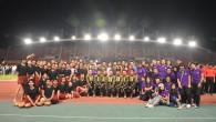 """ภาพกิจกรรม การร่วมพิธีปิดการแข่งขันกีฬามหาวิทยาลัยเทคโนโลยีราชมงคลพระนคร """"RMUTP เกมส์ ครั้งที่ 9"""" ประจำปีการศึกษา 2557 ของคณะเทคโนโลยีคหกรรมศาสตร์ มทร.พระนครเมื่อวันที่ 1 พฤศจิกายน 2557 ณ สนามกีฬามหาวิทยาลัยธรรมศาสตร์ ศูนย์รังสิต"""